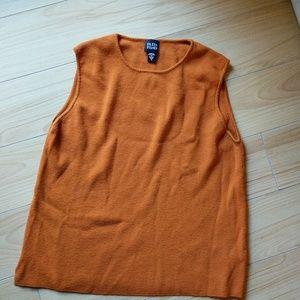 ✨sold✨Eileen fisher wool orange tank top